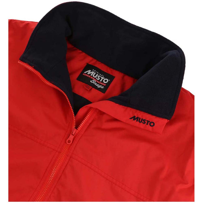 True Red-True Navy - Back - Musto Mens Snug Blouson II Showerproof Jacket