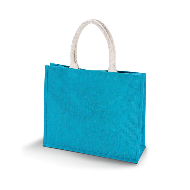 Turquoise - Front - Kimood Womens-Ladies Jute Beach Bag