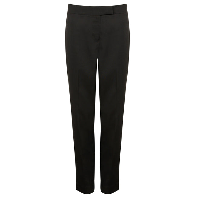Black - Front - Henbury Womens-Ladies Tapered Leg Trousers