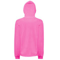 Neon Pink - Back - Comfort Colors Womens-Ladies Full Zip Hooded Sweatshirt