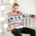 White - Side - Christmas Shop Adults Nordic Jumper