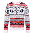 White - Front - Christmas Shop Adults Nordic Jumper