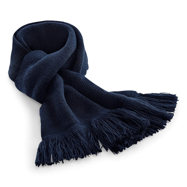French Navy - Front - Beechfield Unisex Classic Knitted Scarf