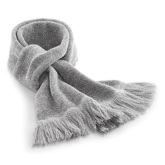 Heather Grey - Front - Beechfield Unisex Classic Knitted Scarf