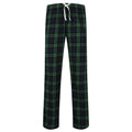 White-Multi Check - Front - Skinnifit Mens Tartan Lounge Pants