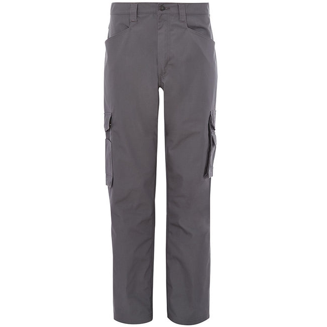 Grey - Front - Alexandra Mens Tungsten Service Trousers