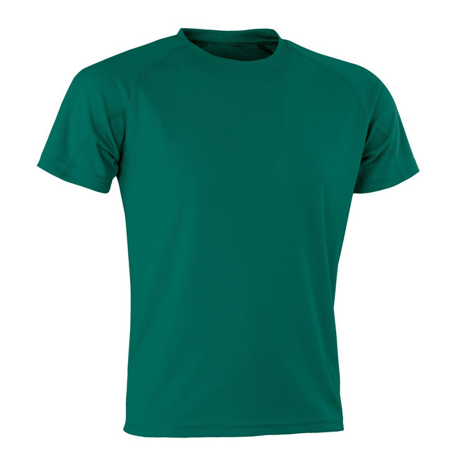 Bottle Green - Front - Spiro Adults Unisex Impact Aircool Tee