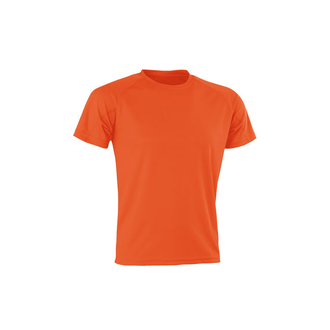 Orange - Front - Spiro Adults Unisex Impact Aircool Tee