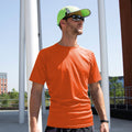 Orange - Back - Spiro Adults Unisex Impact Aircool Tee