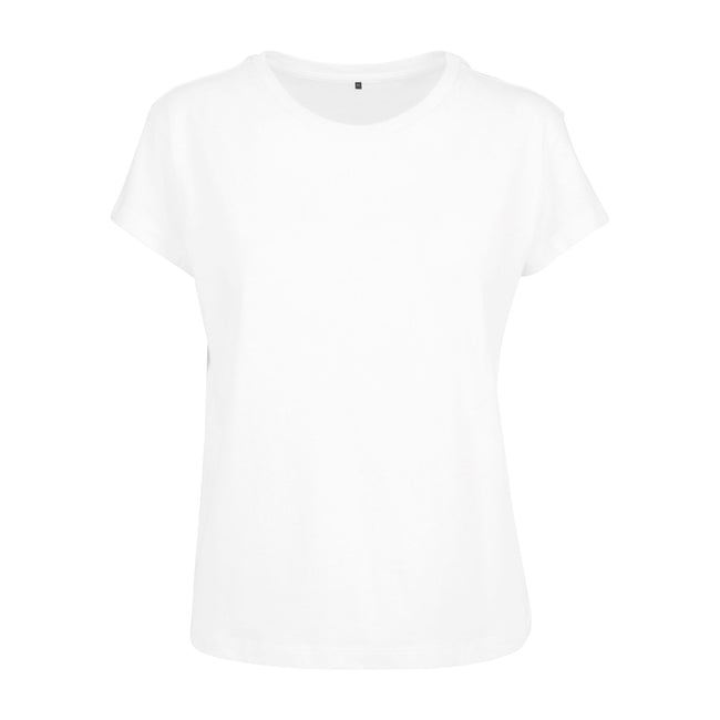 White - Front - Build Your Brand Womens-Ladies Box T-Shirt