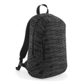 Grey-Black - Front - BagBase Duo Knit Backpack