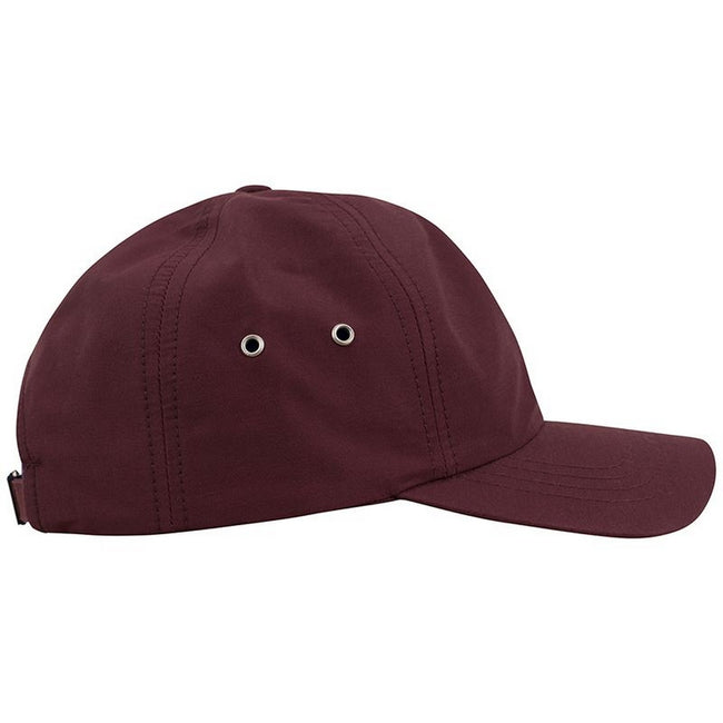 Maroon - Side - Yupoong Flexfit Low Profile Water Repellent Baseball Cap
