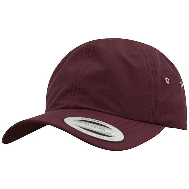 Maroon - Front - Yupoong Flexfit Low Profile Water Repellent Baseball Cap