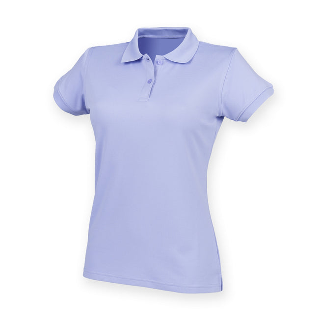 Lavender - Front - Henbury Womens-Ladies Coolplus® Fitted Polo Shirt