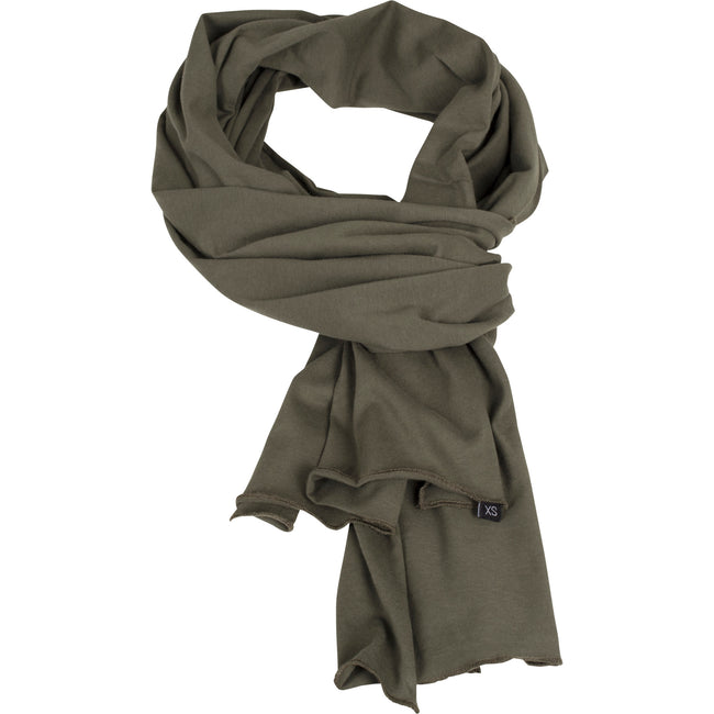 Olive - Front - Build Your Brand Adults Unisex Jersey Scarf