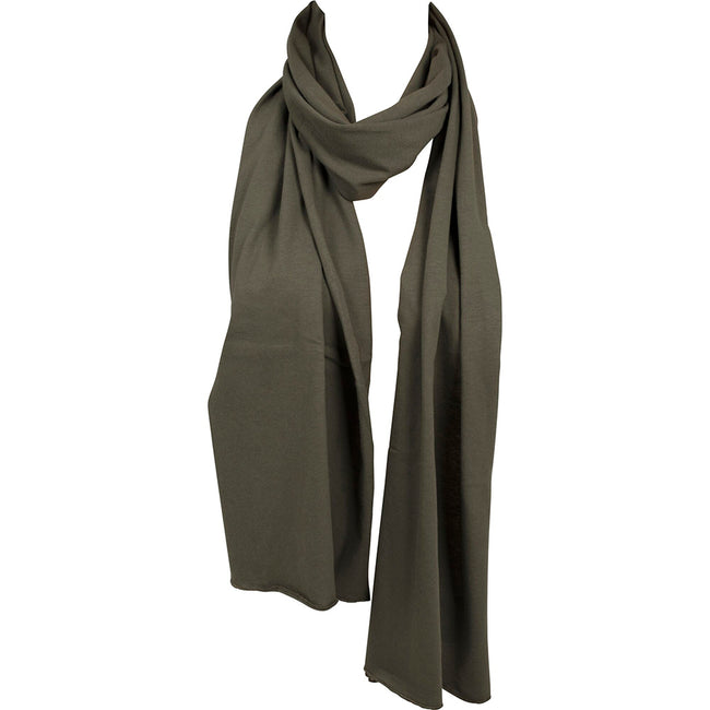 Olive - Back - Build Your Brand Adults Unisex Jersey Scarf