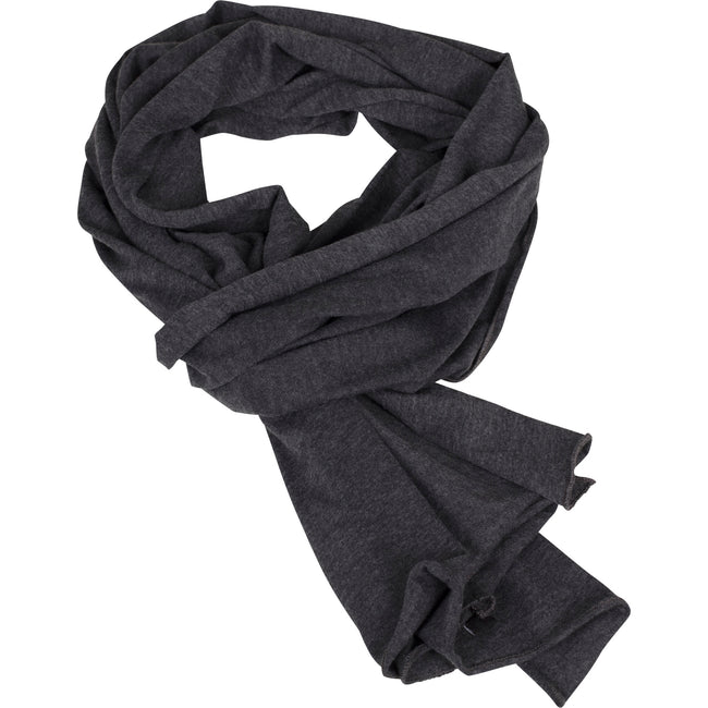Charcoal - Front - Build Your Brand Adults Unisex Jersey Scarf