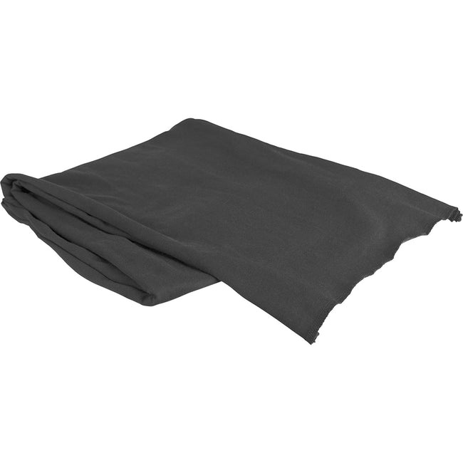 Charcoal - Side - Build Your Brand Adults Unisex Jersey Scarf