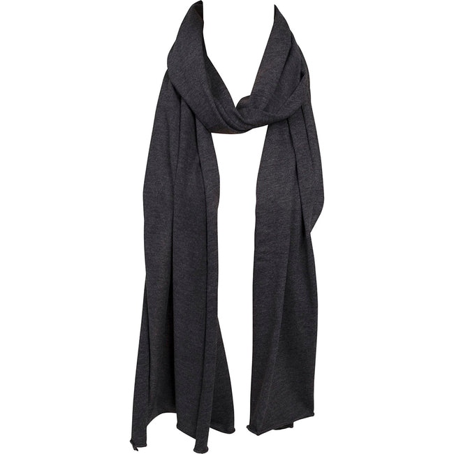 Charcoal - Lifestyle - Build Your Brand Adults Unisex Jersey Scarf
