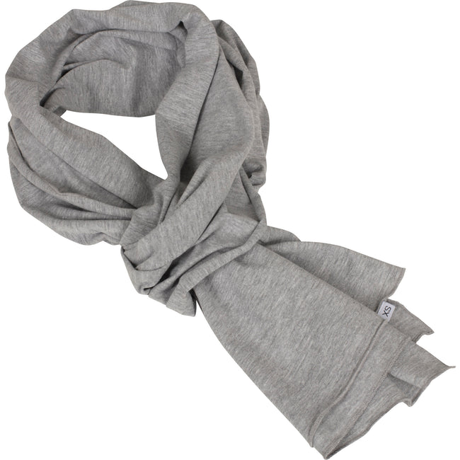 Heather Grey - Front - Build Your Brand Adults Unisex Jersey Scarf
