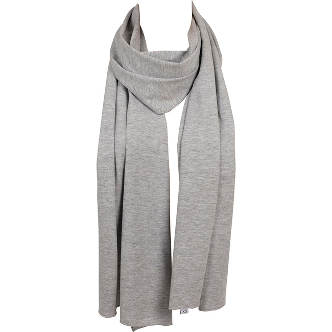 Heather Grey - Back - Build Your Brand Adults Unisex Jersey Scarf