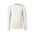 Off White - Front - Kariban Mens Buttoned Shoulder Jumper