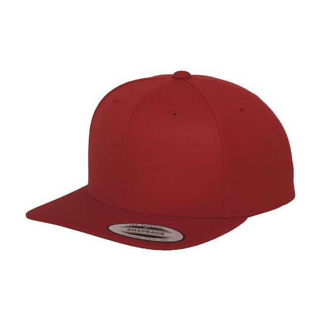 Red - Front - Yupoong Mens The Classic Premium Snapback Cap (Pack of 2)