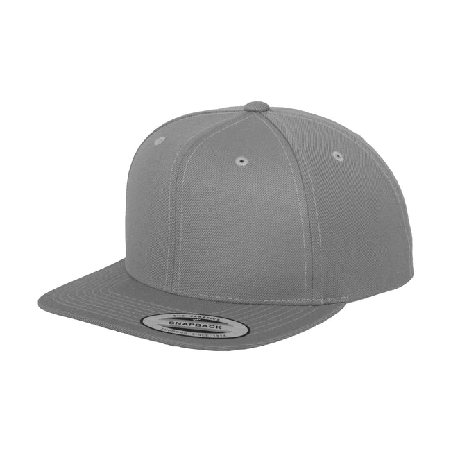 Heather Grey - Front - Yupoong Mens The Classic Premium Snapback Cap (Pack of 2)