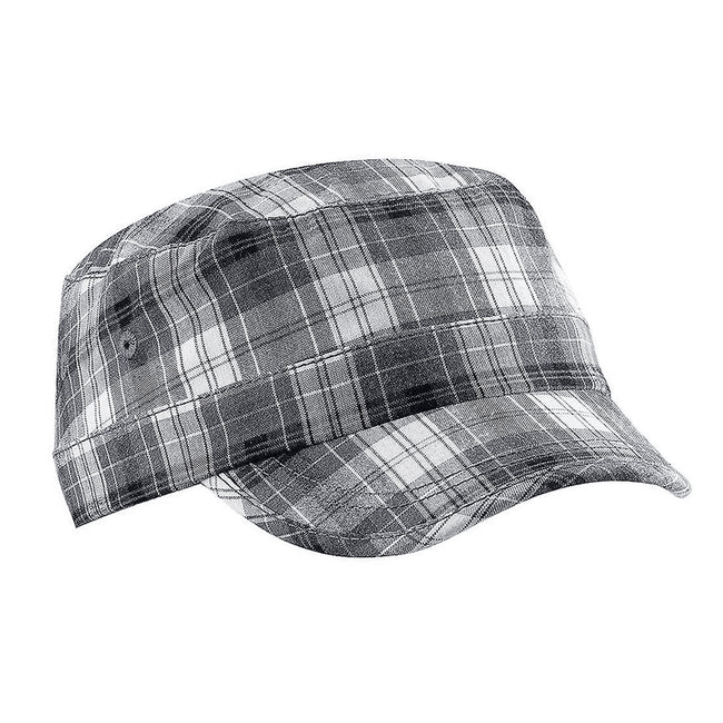 Grey Plaid - Front - Beechfield Unisex Plaid Cadet Army Cap (Pack of 2)
