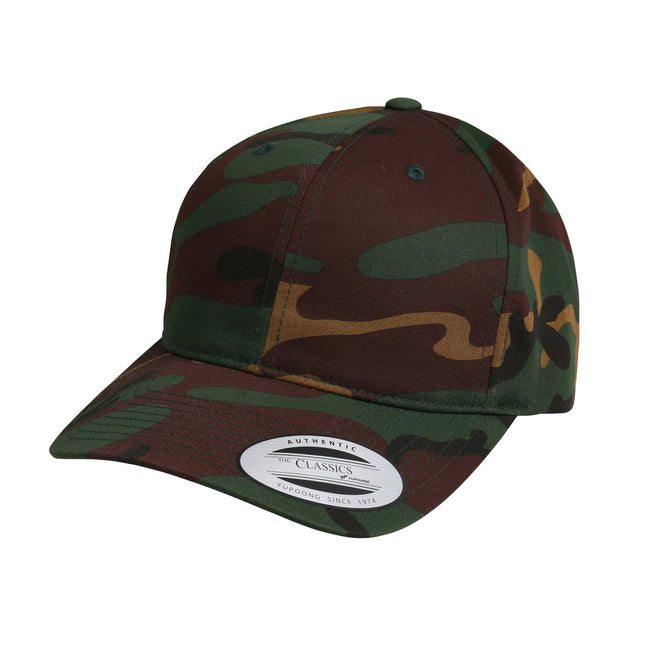 Camo - Front - Nutshell Adults Unisex LA Cotton Baseball Cap (Pack of 2)