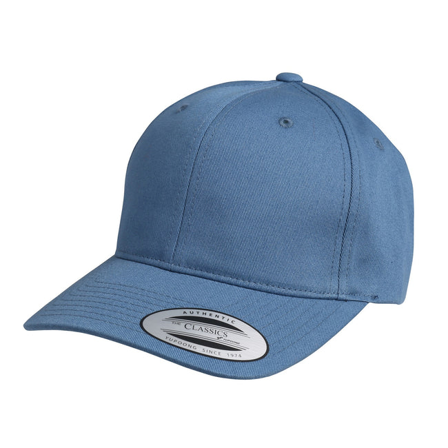 Airforce Blue - Front - Nutshell Adults Unisex LA Cotton Baseball Cap (Pack of 2)