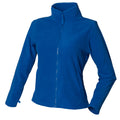 Royal - Front - Henbury Womens-Ladies Microfleece Anti-Pill Jacket