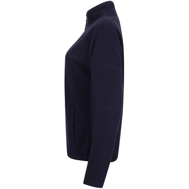Oxford Navy - Side - Henbury Womens-Ladies Microfleece Anti-Pill Jacket