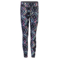 Charcoal-Bright Aztec - Front - Skinni Minni Childrens Girls Reversible Workout Leggings (Pack of 2)