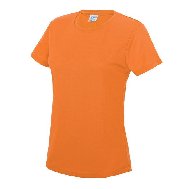 Sun Yellow - Back - Just Cool Womens-Ladies Sports Plain T-Shirt