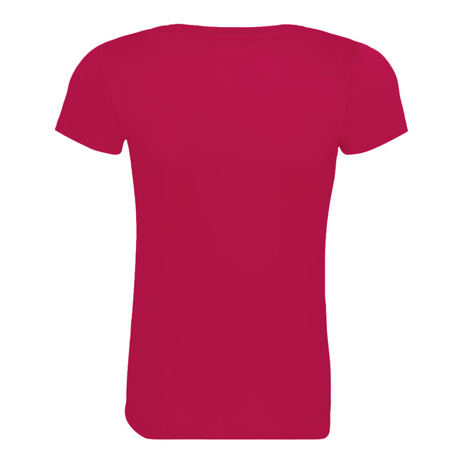 Fire Red - Front - Just Cool Womens-Ladies Sports Plain T-Shirt