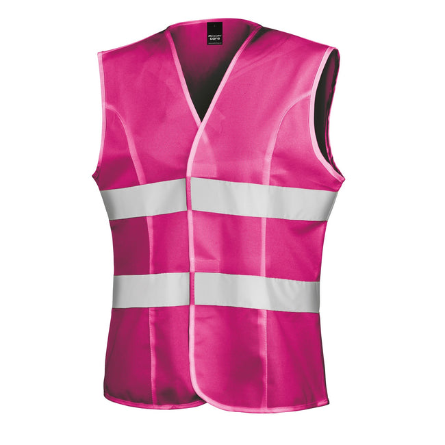 Fluorescent Pink - Front - Result Womens-Ladies Reflective Safety Tabard (Pack of 2)