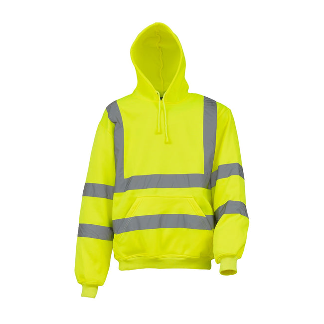 Yellow - Front - Yoko Mens High Visibility Pull-Over Hoodie (Pack of 2)