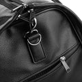 Black - Pack Shot - Quadra Nuhide Garment Weekender Duffel-Holdall Bag
