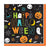 Multicoloured - Front - Amscan Halloween Friends Beverage Napkins (Pack Of 6)