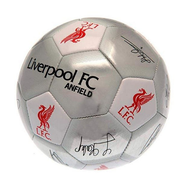 Silver - Back - Liverpool FC Silver Signature Football - Size 5