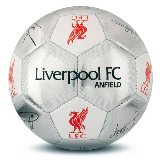 Silver - Front - Liverpool FC Silver Signature Football - Size 5
