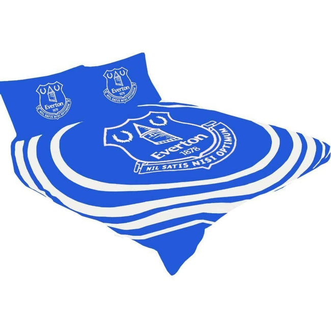 Blue-White - Side - Everton FC Pulse Duvet Set