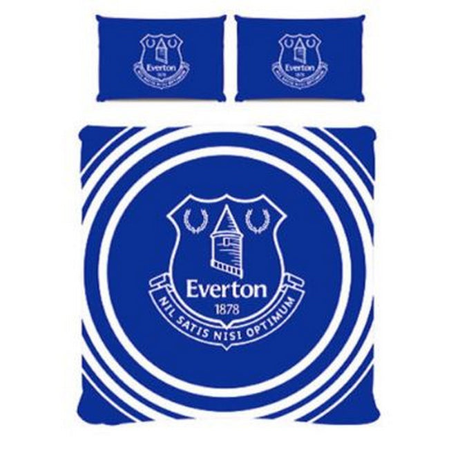 Blue-White - Front - Everton FC Pulse Duvet Set