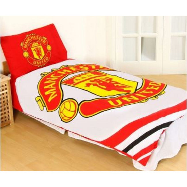 Red-White-Gold - Back - Manchester United FC Pulse Duvet Set