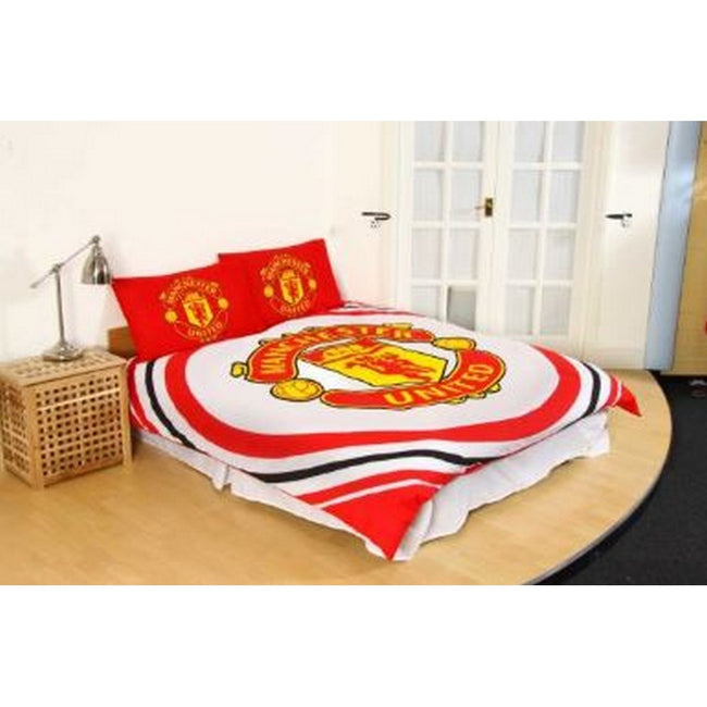Red-White-Gold - Front - Manchester United FC Pulse Duvet Set