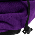 Purple - Front - FLOSO Womens-Ladies Multipurpose Fleece Neckwarmer Snood - Hat