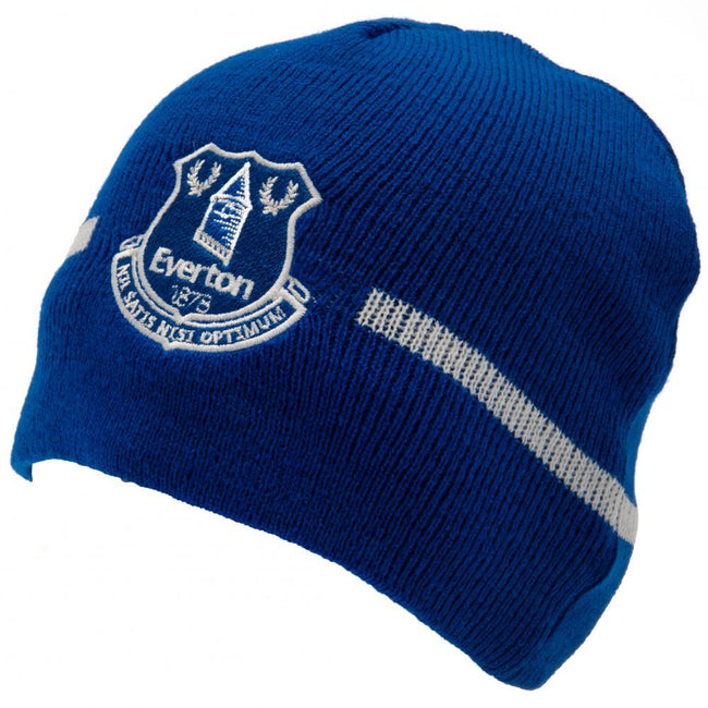 Blue-White - Front - Everton FC Official Adults Unisex Knitted Hat