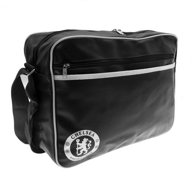 Black-White - Back - Chelsea FC Touch Fastening Messenger Bag