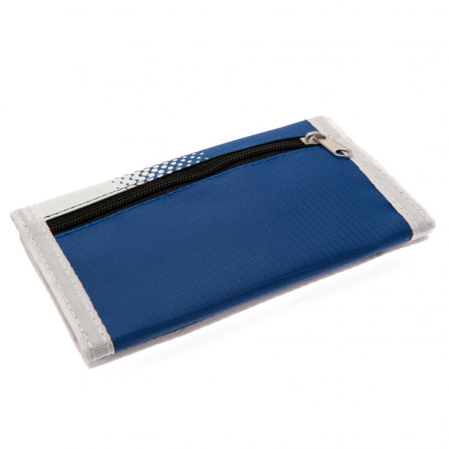 White-Blue - Side - Real Madrid FC Touch Fastening Fade Design Nylon Wallet